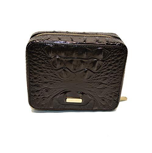 Brahmin Sophie Jewelry Case Croco emb Leather Black Melbourne