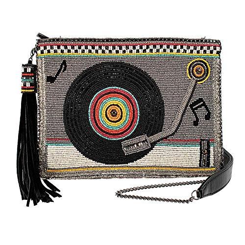 Mary Frances Take A Spin Beaded Record Player Crossbody Handbag