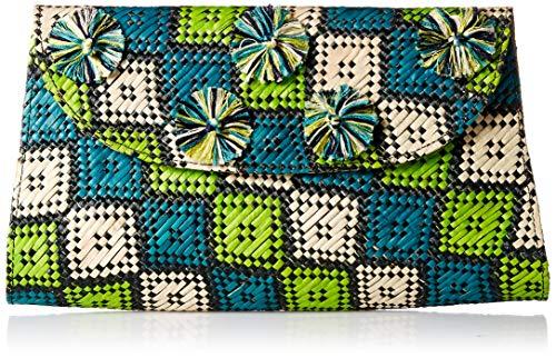 Natori Women's Woven Clutch, Multi colored, O/S