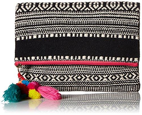 'ale by alessandra Women's Segovia Tribal Foldable Clutch With Pom Tassel, Pink, One Size