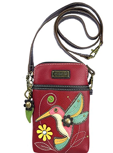 Chala Hummingbird Cellphone Crossbody Handbag – Convertible Strap Bird Lovers
