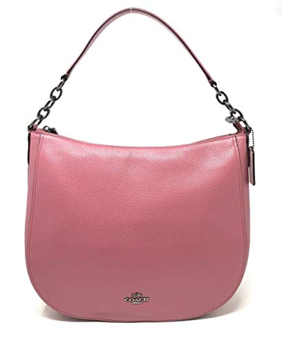 Coach F58036 Pebble Chelsea 32 Hobo Leather Crossbody Bag Rouge