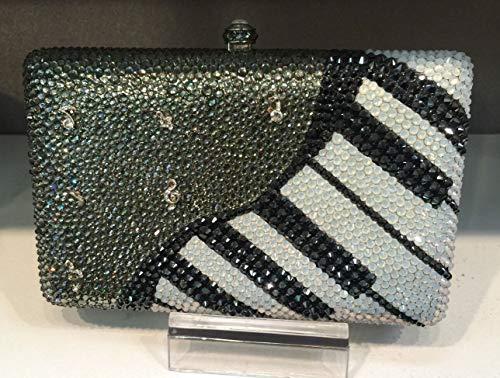 PLASTILINUM by Nib Crystal Evening Bag Clutch Hand Bag Made with Swarovski Elements Piano Cool car Tuning Accessories