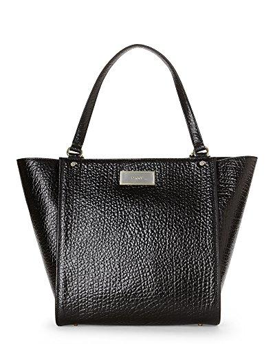 DKNY French Grain Leather Medium Shopper, Black