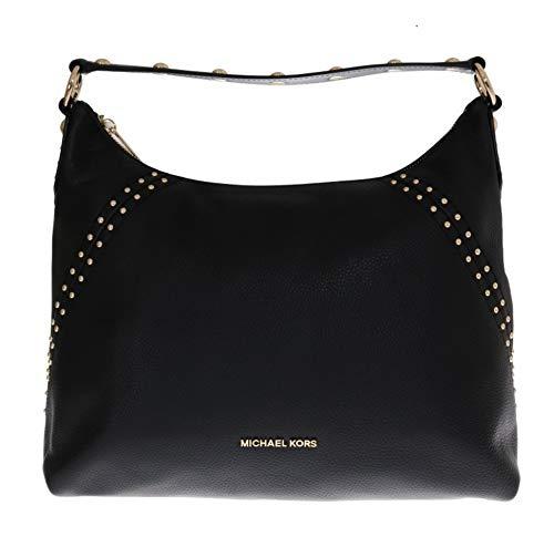 Michael Kors Black ARIA Leather Shoulder Bag