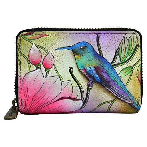 Anuschka Handbags 1110 Credit And Business Card Holder Spring Passion One Size