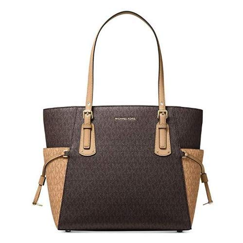 MICHAEL Michael Kors Voyager Signature East/West Tote Brown/Butternut One Size