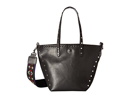Circus by Sam Edelman Women's Lela Tote Black/Black/Studs/Guitar Strap Handbag