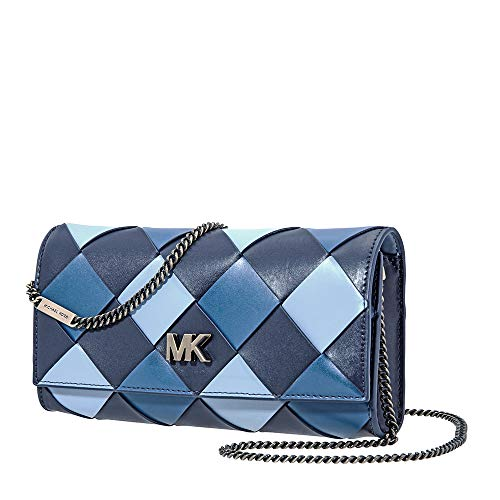 Michael Kors Mott Large Woven East West Clutch- Admiral/Multi