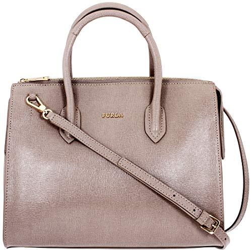 Furla Pin Ladies Medium Beige Leather Satchel Bag 978706