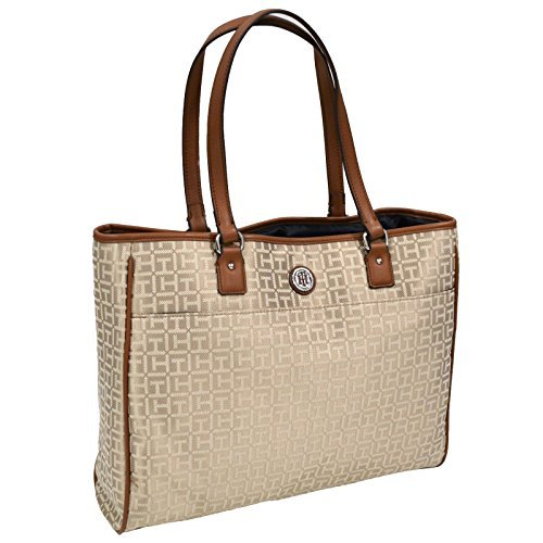 Tommy Hilfiger Large Tote Purse (Beige)