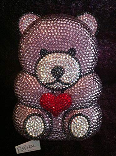 PLASTILINUM by Nib Crystal Evening Bag Clutch Hand Bag Teddy Bear Made with Swarovski Elements Cool car Tuning Accessories