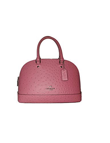 Coach Sierra F66932 Ostrich Embossed Mini Sv/Strawberry Leather Satchel