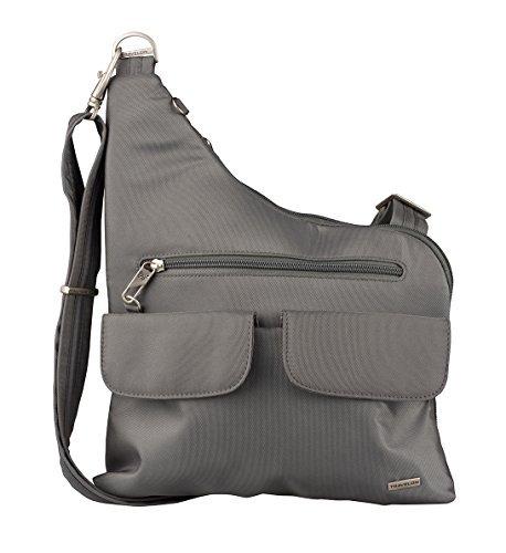 Travelon Anti-Theft Cross-Body Bag, Two Pocket (Pewter)