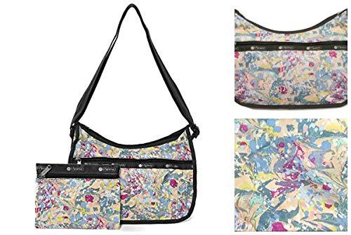 LeSportsac Galaxy Swirl Classic Hobo Crossbody Handbag + Cosmetic Bag, Style 7520/Color E133