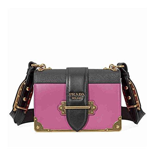 Prada Women's Cahier Leather Bag Pink
