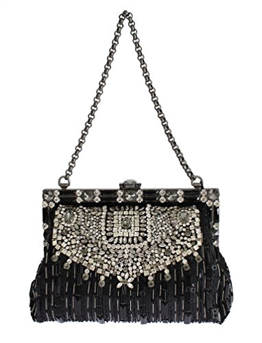 Dolce & Gabbana – Crystal Embellished Black VANDA Clutch Bag