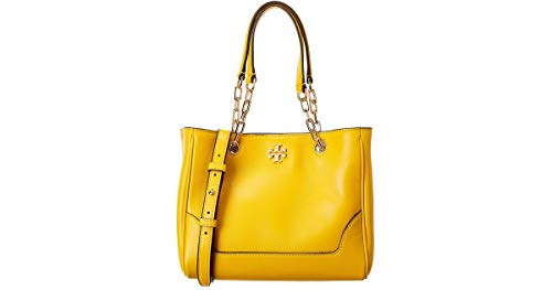 Tory Burch Small Carter Leather Tote Daisy Yellow 56969