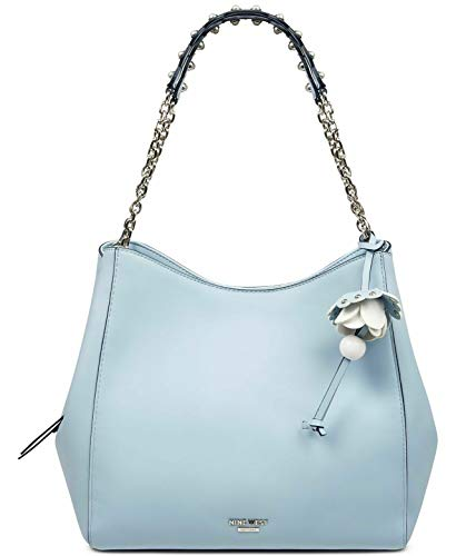 NINE WEST Marea Flowery Charm Detailed Hobo Bag – Blue