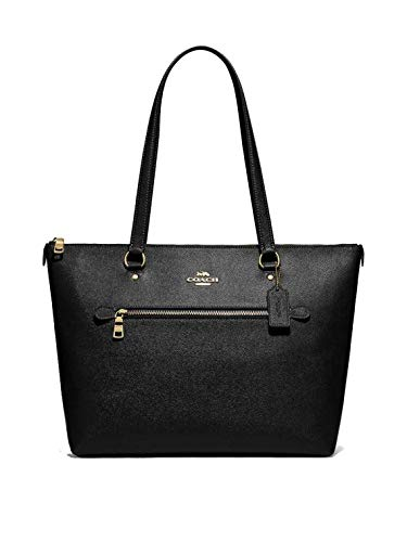 Coach Leather Gallery Shoulder Tote Purse – #F79608 – Black, Medium