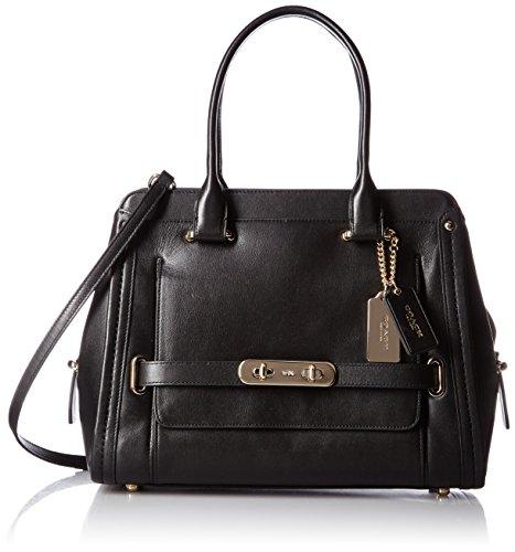 COACH Women's Swagger City Satchel LI/Black Handbag