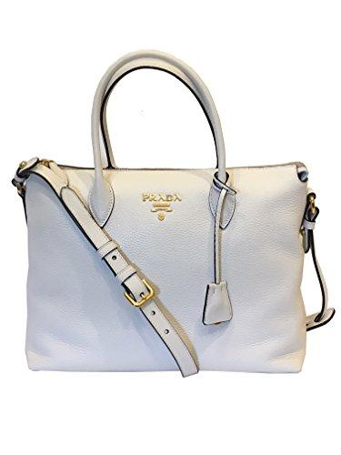 Prada Women's White Vitello Phenix Tote Bag 1BA063