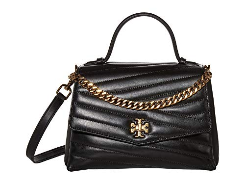 Tory Burch Tory Burch Kira Chevron Shoulder Bag In Black Quilted Leather Black