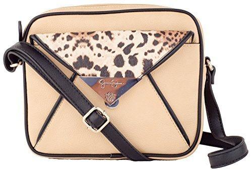 Jessica Simpson Piper Women's Handbags Beige, Tan Crossbody/Xbody