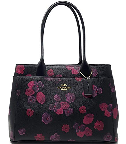 COACH CASEY TOTE WITH HALFTONE FLORAL PRINT BAG HANDBAG
