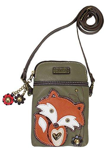 Chala Fox Cellphone Crossbody Handbag – Convertible Strap Fox Lovers