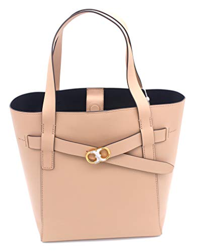 Tory Burch Gemini Link Leather Tote (Perfect Sand)