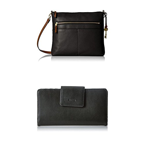 Fossil Fiona Large Crossbody with Emma Tab Wallet Rfid, Black