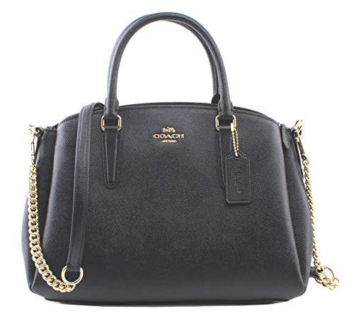 Coach Sage Carryall Shoulder Handbag, Black/Light Gold
