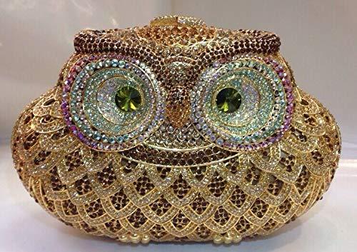 PLASTILINUM by Nib Crystal Evening Bag Clutch Hand Bag Purse Made with Swarovski Elements(Owl) Cool car Tuning Accessories
