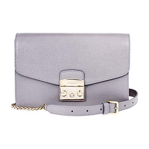 Furla Metropolis Ladies Small Gray Onice Leather Shoulder Bag 978065