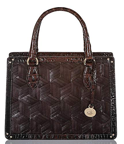 Brahmin Hughes Collection Small Woven Camille Top Handle Satchel Bag
