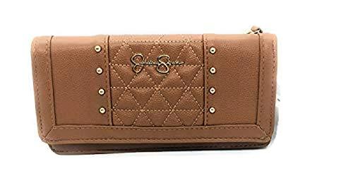Jessica Simpson Lily Buttoned Flap Wallet (JS14592) (Cognac)