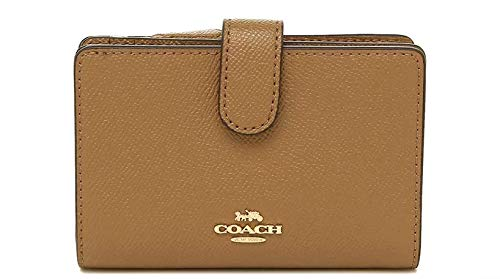 Coach Crossgrain Leather Medium Corner Zip Wallet F11484 – Light Saddle