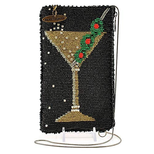 Mary Frances Martini Beaded Cocktail Crossbody Phone Bag