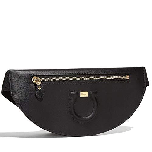 Salvatore Ferragamo Women's Black Leather Gancio Bumbags Belt Bag