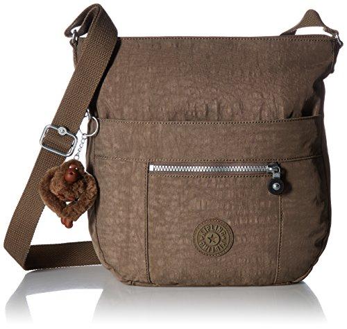 Kipling Women's Bailey Solid Crossbody Saddle Bag, Soft Earthy Beige, One Size