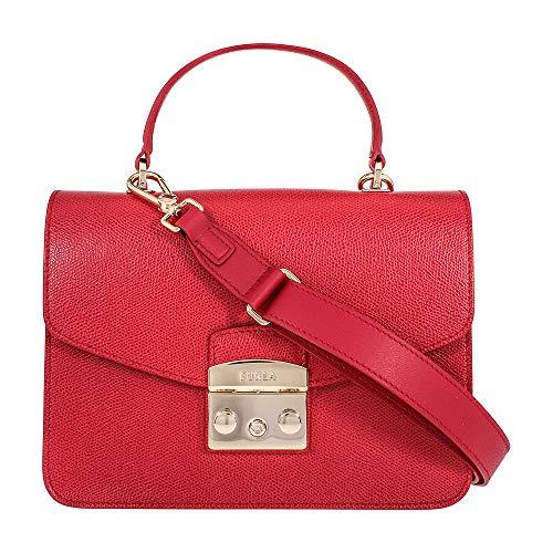 Furla Metropolis Ladies Small Ruby Leather Crossbody 948627