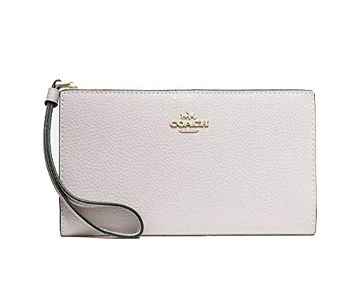 Coach Pebbled Leather Long Wallet Clutch – #F73156 – Chalk