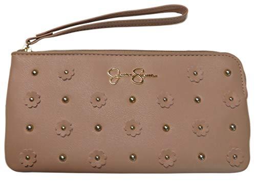 Jessica Simpson Womens Lorelei Wristlet Wallet Natural