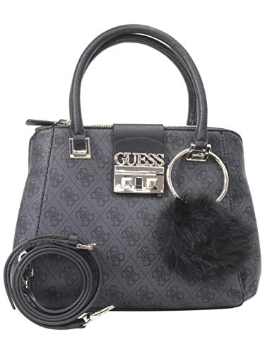 Guess Women's Logo Luxe Small Coal Society Satchel Handbag