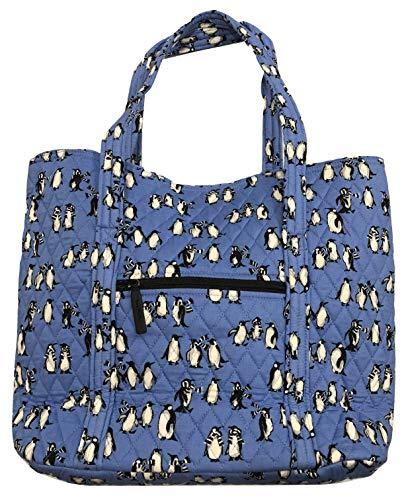Vera Bradley Vera Tote, Signature Cotton (Platyful Penguins Blue)