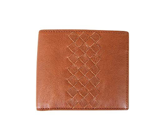 Bottega Veneta Men's Bifold Brown Leather Wallet With Woven Detail 196207 6318