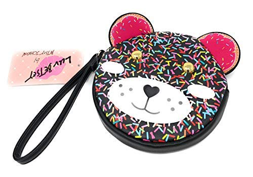 LUV BETSEY Pink Sprinkles Teddy Bear Coin Purse