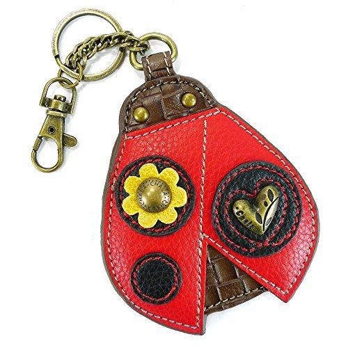 Chala Key Fob/Coin Purse-Ladybug, Red & Black