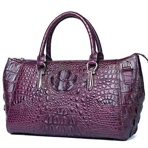 YBQ Fashion New Leather Handbag Fashion Handbag Wild Tide Ms. Diagonal Shoulder Bag 32x135x21cm (Purple) Pretty